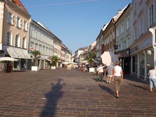 Fußgängerzone in Klagenfurt